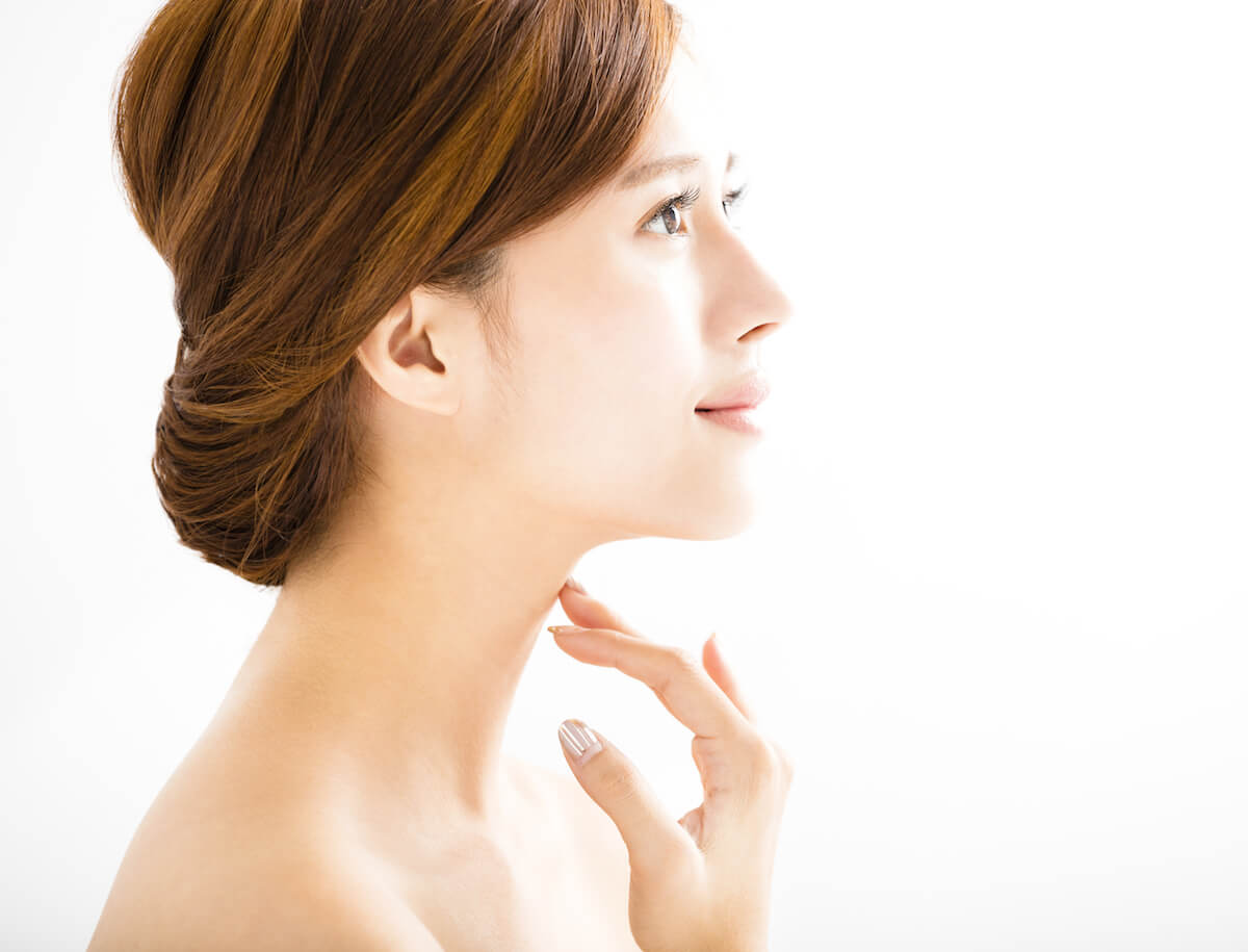 Side View Young Smiling Woman With Clean Face – APAX ...