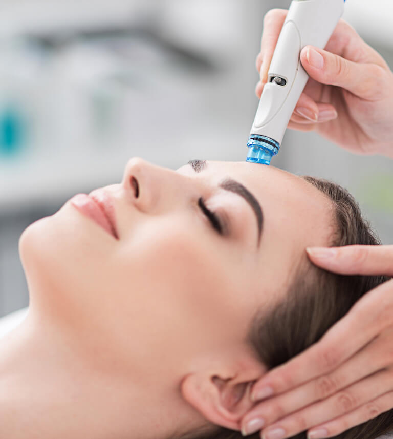 close up of hydra plus facial in Singapore